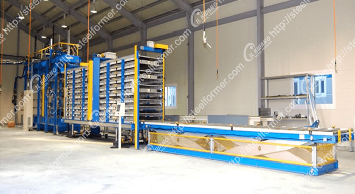 Leading polyurethane(PU) sandwich panel production line